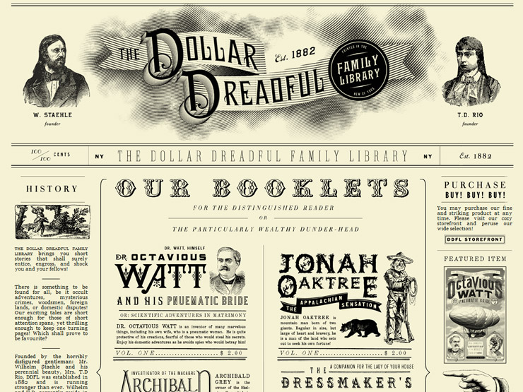 The Dollar Dreadful Family Library