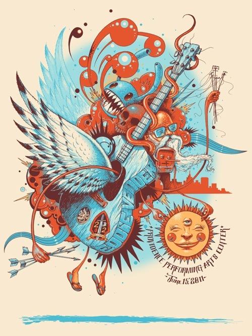 Show artist: Eddie Vedder | Poster designer: Jeff Soto
