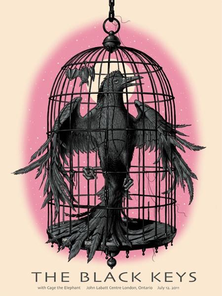 Show artist: The Black Keys | Poster designer:  Jeff Soto