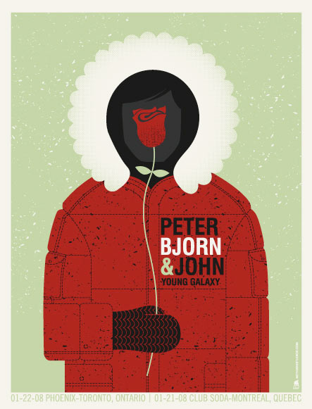 Show artist: Peter Bjorn and John | Poster designer: Methane Studios