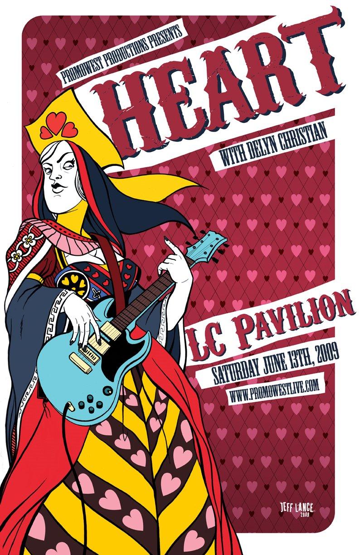 Show artist: Heart | Poster designer: Jeff Lance