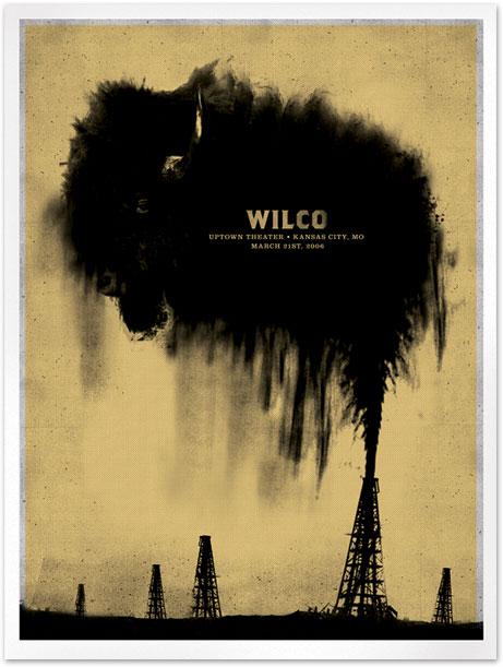 Show artist: Wilco | Poster designer: Mikey Burton