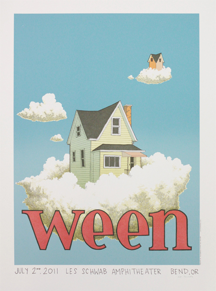 Show artist: Ween | Poster designer: Justin Santora