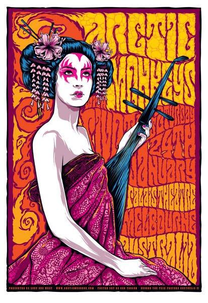 Show artist: Artic Monkeys | Poster designer: Ken Taylor