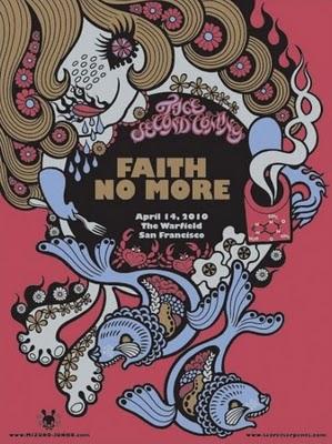 Show artist: Faith No More | Poster designer: Junko Mizuno