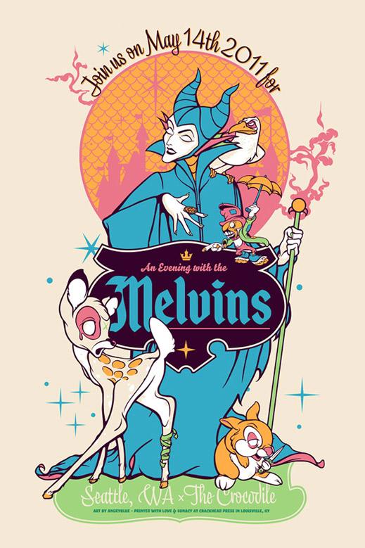 Show artist: Melvins | Poster designer: Angryblue