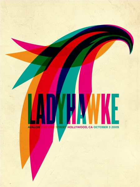 Show artist: Ladyhawke | Poster designer: Aaron Gresham