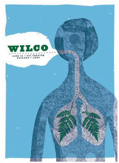 Show artist: Wilco | Poster designer:  The Heads of State