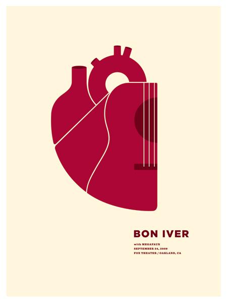 Show artist: Bon Iver | Poster designer: Jason Munn