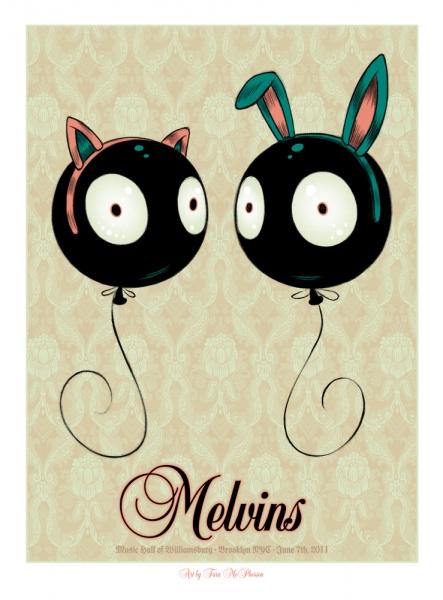 Show artist: Melvins | Poster designer: Tara Mcpherson