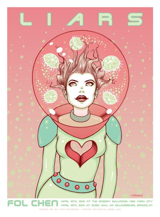 Show artist: Liars | Poster designer:  Tara Mcpherson