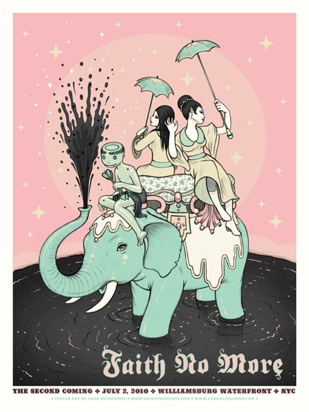 Show artist: Faith No more | Poster designer: Tara Mcpherson