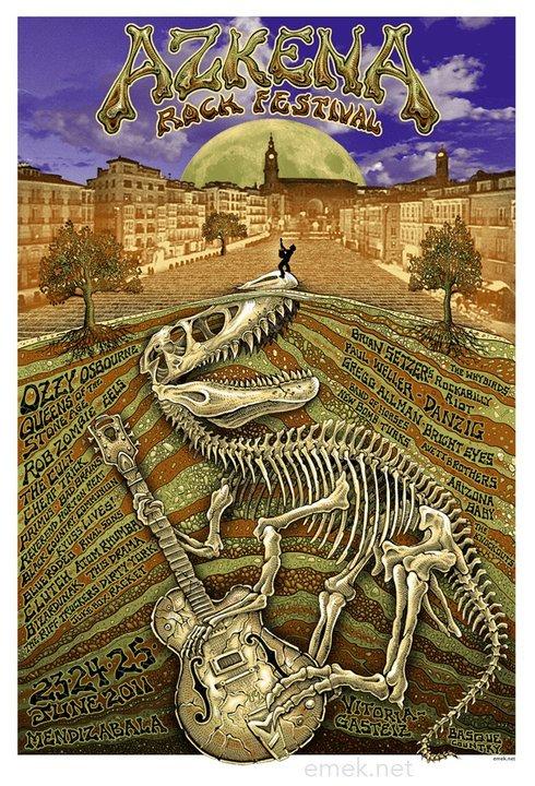 Show artist: Azkena Rock Festival | Poster designer: Emek
