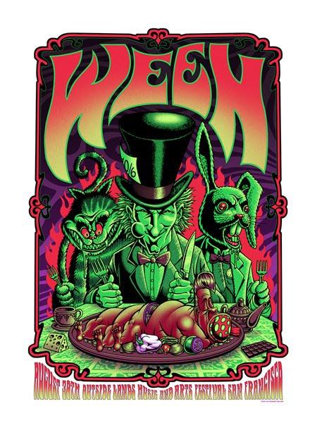 Show artist: Ween | Poster designer: Justin Hampton