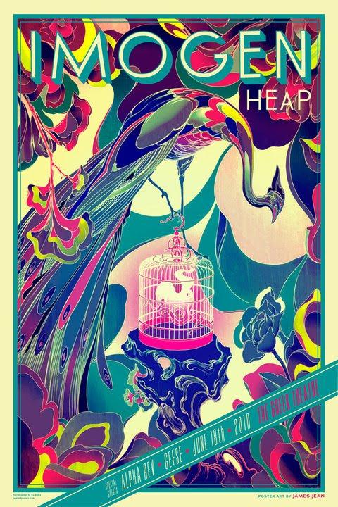 Show artist: Imogen Heap | Poster designer:  James Jean