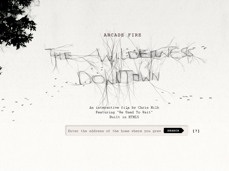 Arcade Fire - The Wilderness Downtown (View on Chrome)