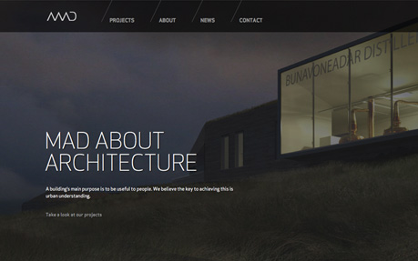 Mad architects awwwards sotd for Architectural websites