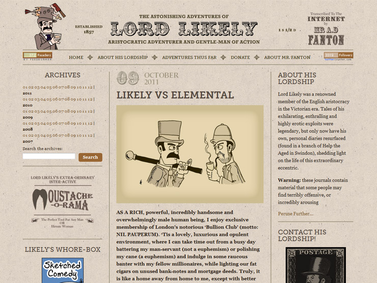 The AStonishing Adventures of Lord Likely