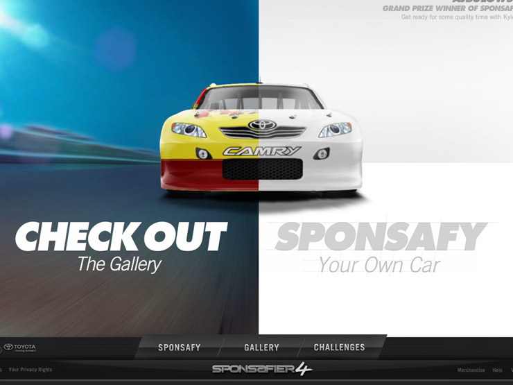 Toyota Racing's Sponsafy Your Ride Contest