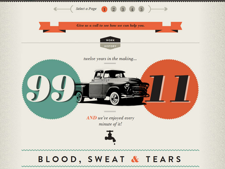 kitchen web design. Kitchen Sink Studios 33 Brilliant Examples of Type in Web Design