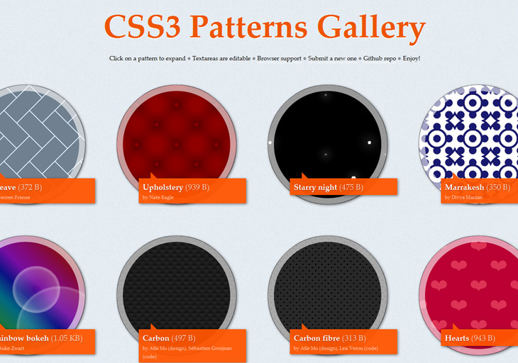 CSS3 Patterns