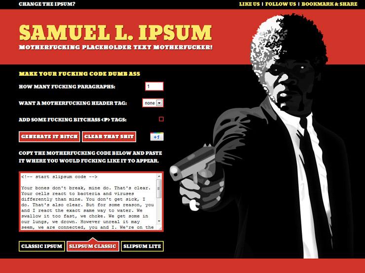 Samuel L Ipsum