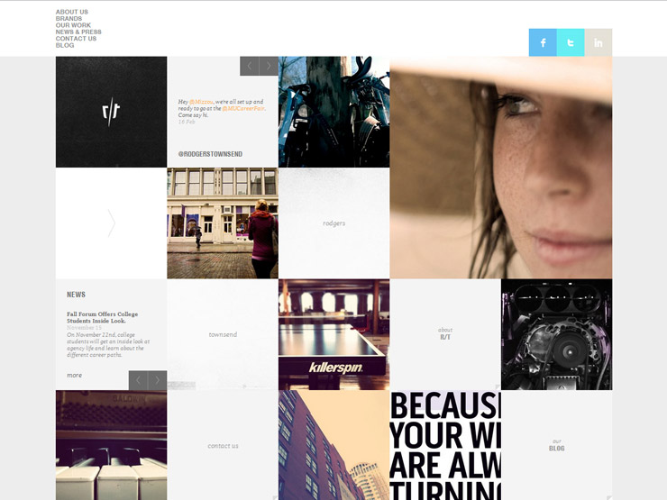 30 gridbased websites