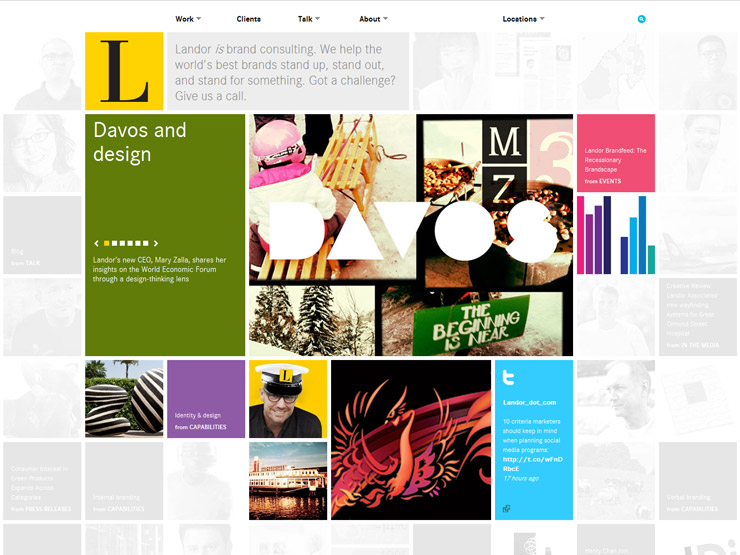 GridBased Websites - Best tile design websites