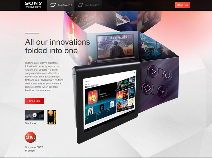Sony Tablet S by Odopod