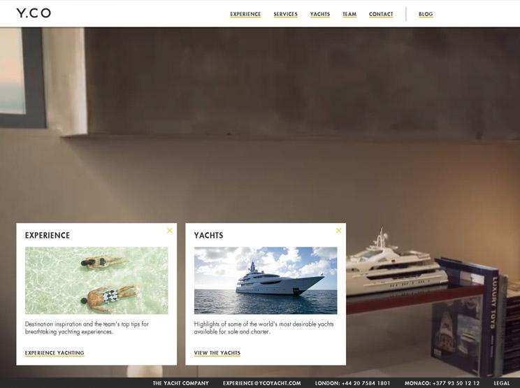 YCO Yachts by Poke London