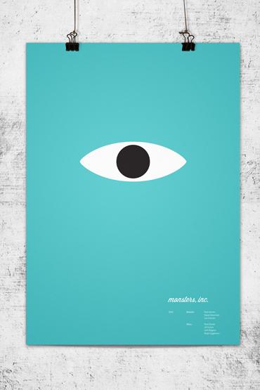 Minimalist posters of pixar 39 s movies for Art post minimalisme
