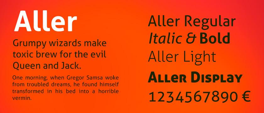 aller normal font free download