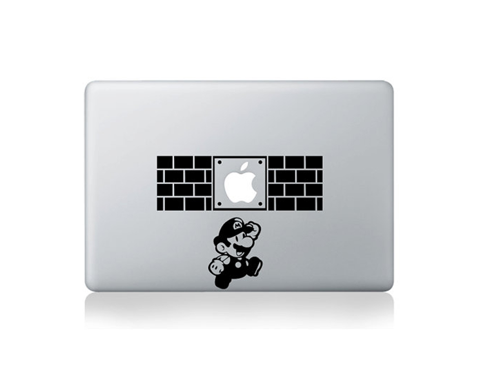 Black And White Sticker Design For Macbook