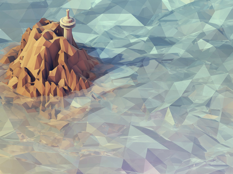 Häufig Low Poly Illustration, What's the Secret? YB59
