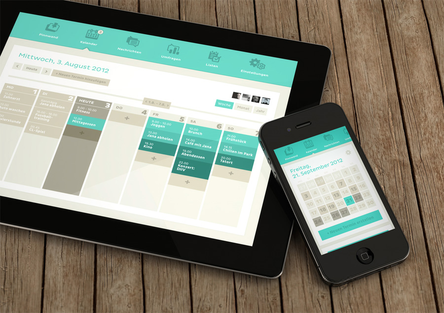 Recent Inspirational UI Examples in Mobile Device Screens