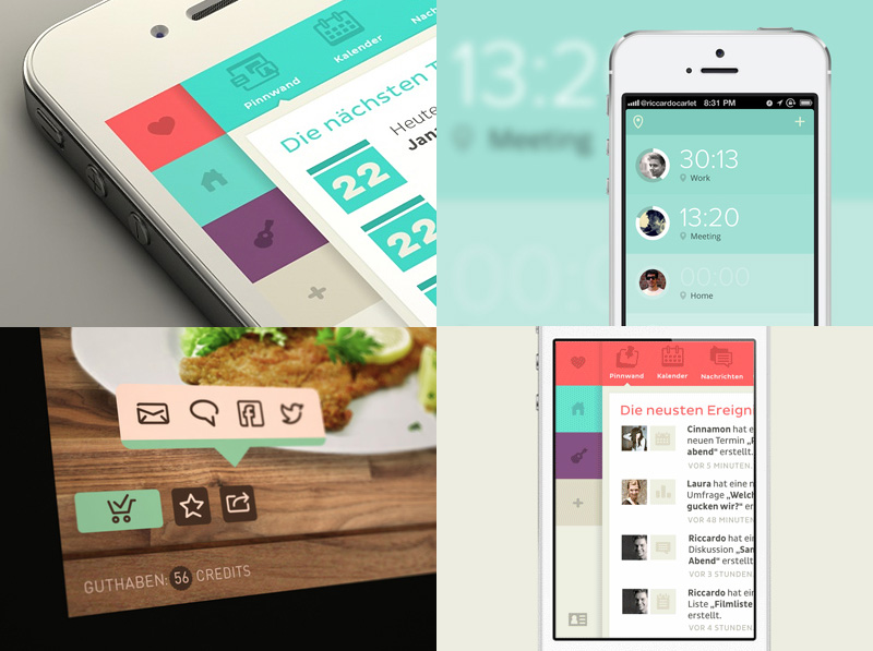30 recent inspirational ui examples in mobile device screens - Ui Design Ideas