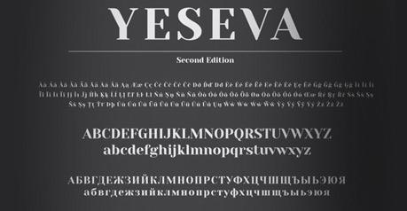 Yeseva One Typeface