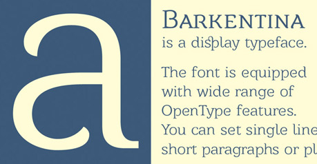 Barkentina Display Typeface