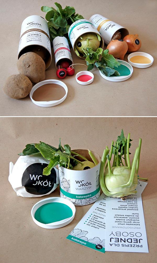 Round vegetables