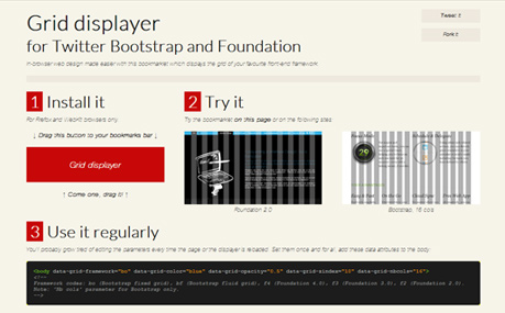 Grid displayer for Twitter Bootstrap