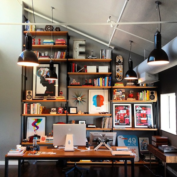Home office designers Blue Houzz Grand Designs For Small Workspaces The Freelancers Dream Office