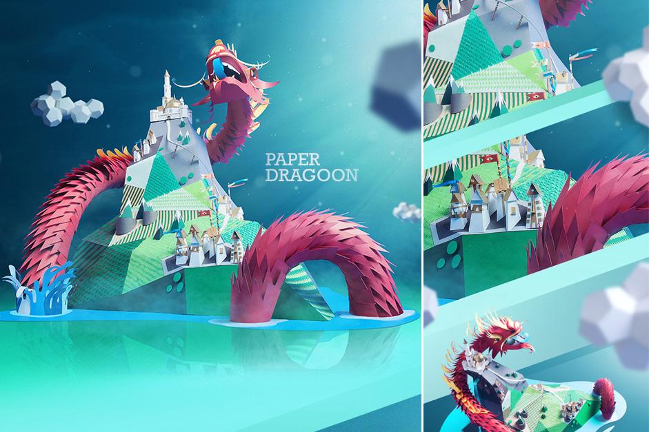 Paper Dragon   INK studio