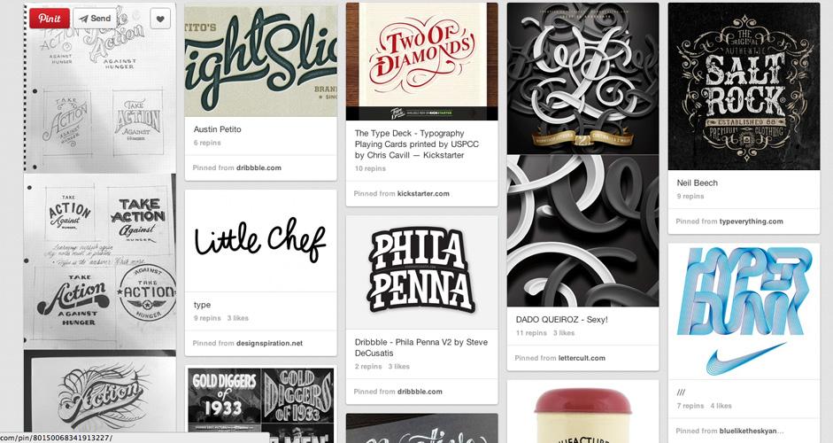 Jeff Andrews | Typography | 333 Pins