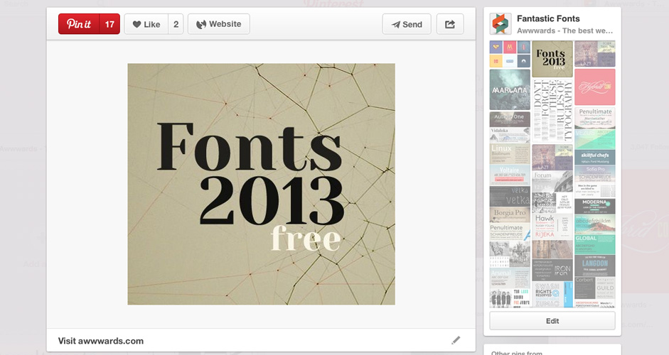 Awwwards | Fantastic Free Fonts | 91 Pins