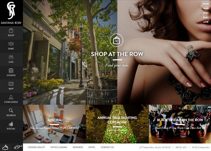 Santana Row Website