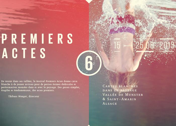 Festival Premiers Actes