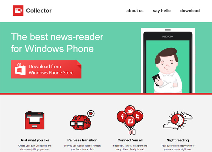 Collector for Windows Phone