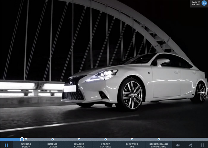 Lexus IS interactive movie