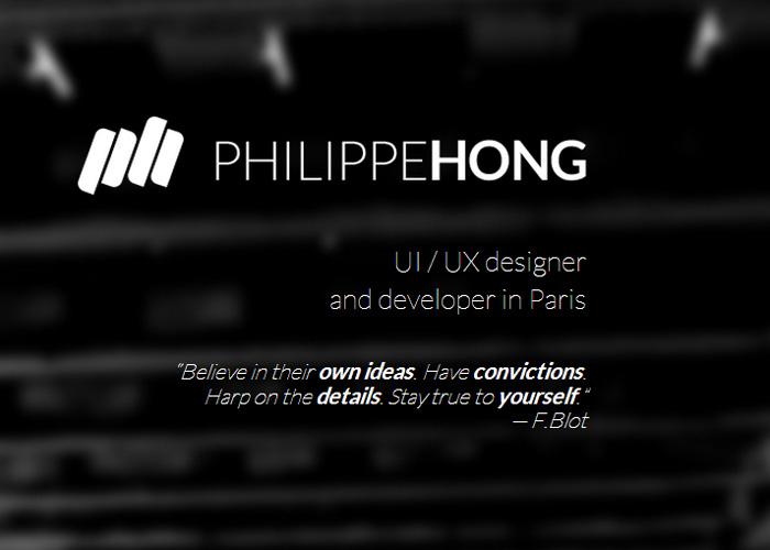 Philippe HONG // Portfolio