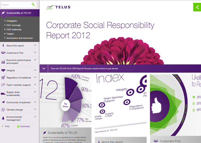 TELUS Corporate Social Responsibility Report 2012
